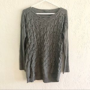 Anthro Matty M Embellished Gray Tunic Sweater M